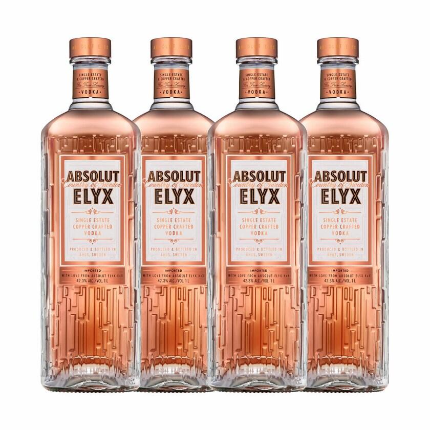 Absolut Vodka Elyx 42.3% 4x1 L