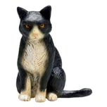 Legler Animal Planet Katze sitzend Schwarz-Weiß