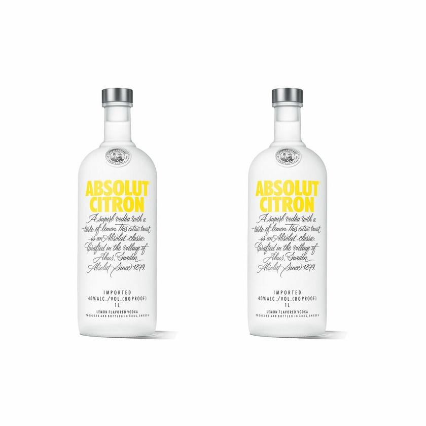 Absolut Vodka Citron 40% 2x1 L