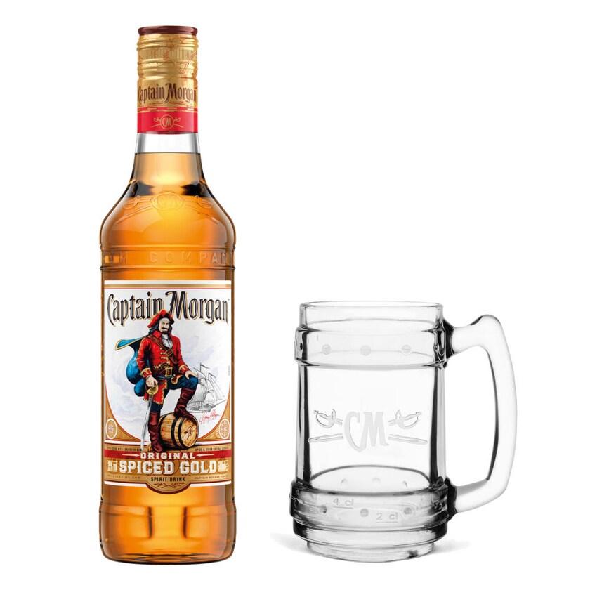 Captain Morgan Original Spiced Gold Set mit Glaskrug 35% 500 ml