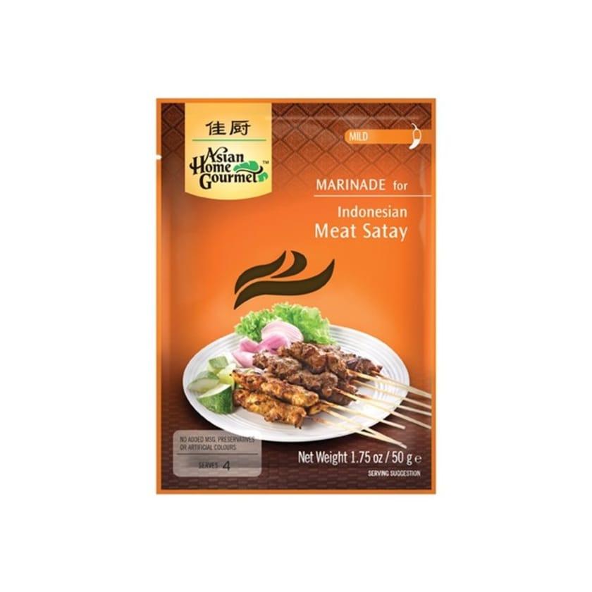 Asian Home Gourmet Indonesian Satay Saté Marinade berühmtes indonesisches BBQ-Gericht 50g