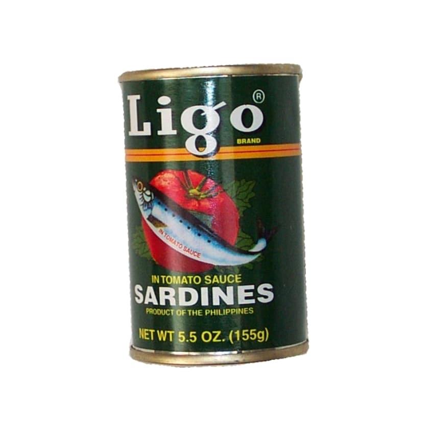 Ligo Sardinen in Tomatensauce Ligo grün mild 155g