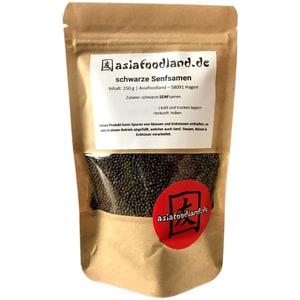 Asiafoodland schwarze Senfsamen braune Senfsamen 150g