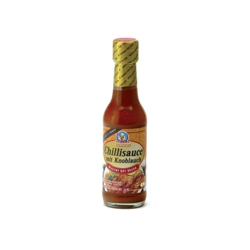 Healthy Boy Süße scharfe Chilisauce mit Knoblauch Chilli Sauce Garlic 250 ml