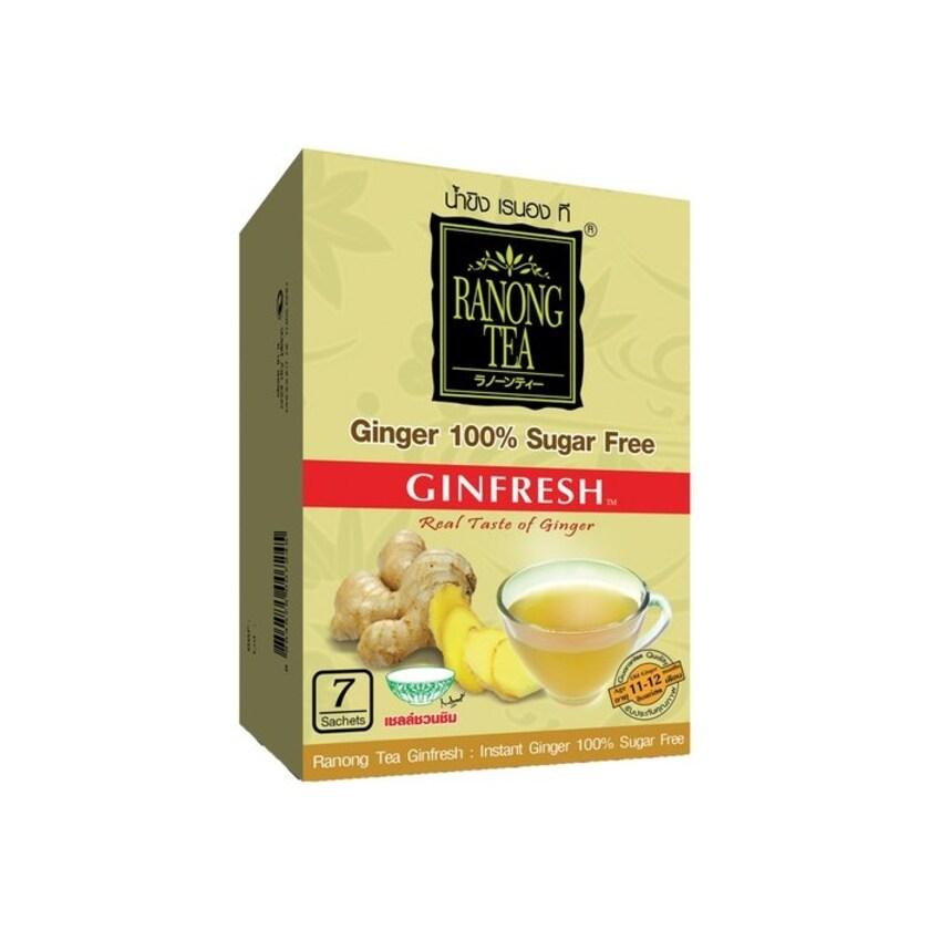 Ranong Ginfresh Ingwergetränke (Zuckerfrei) aus Thailand 35g