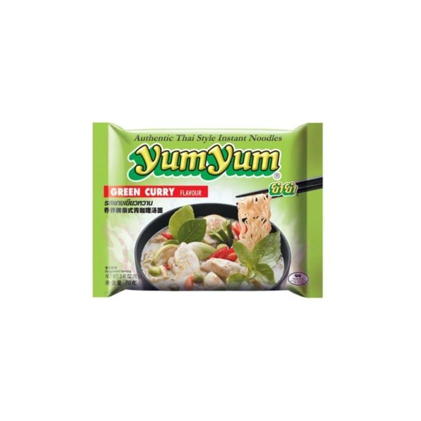 YumYum Instant Nudeln mit Thai Green Curry Geschmack Big Pack 70g