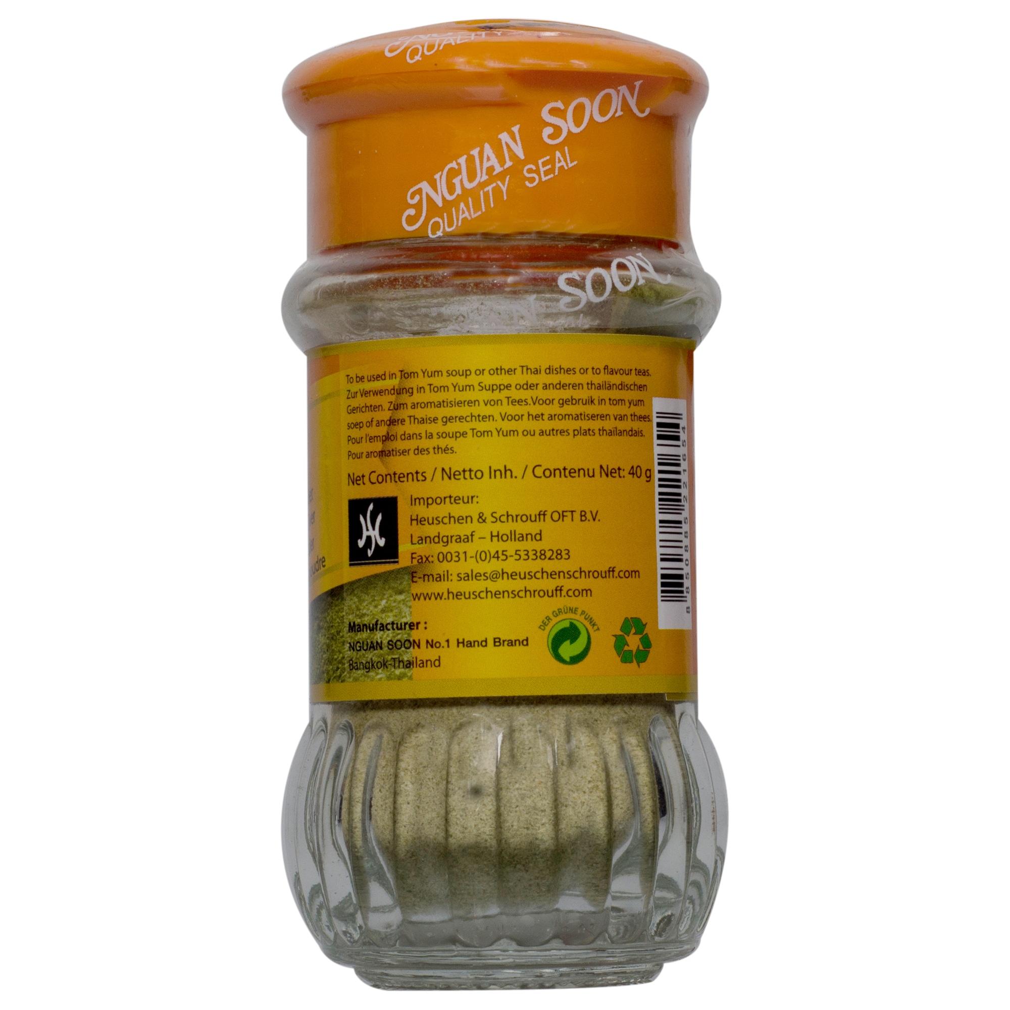 Nguan Soon Kaffir Limettenblattpulver Zitronenblattpulver 40g