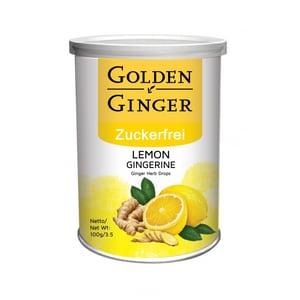 Sunny Ville Golden Ginger Zuckerfrei Ingwer Bonbon Lemon 100 g
