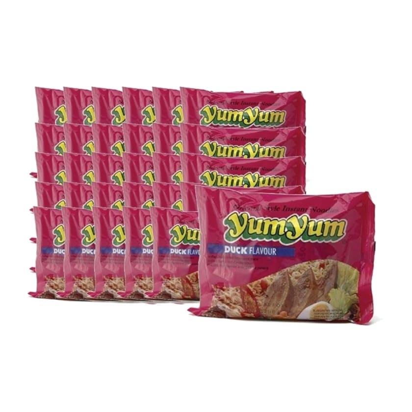 YumYum Instant Nudeln mit Ente Duck Geschmack 30er Karton 30 x 60g
