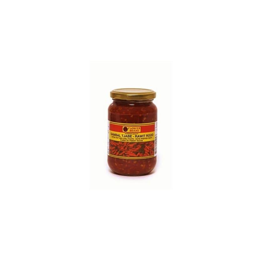 Flower Brand Sambal Tjabe extra scharfe Chili Paste 375 g
