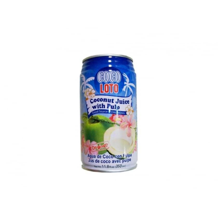 Coco Loto Kokossaft Getränk mit Kokosstückchen Dose 350ml
