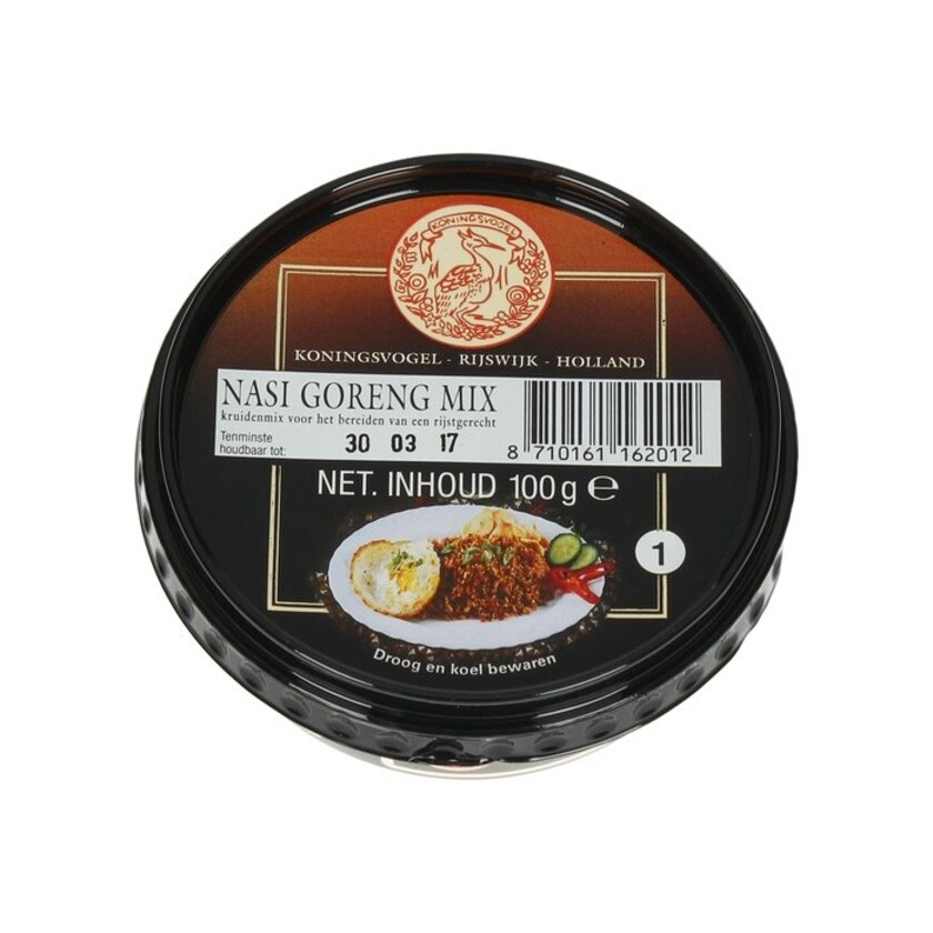 Koningsvogel Sambal Nasi Goreng Mix würzige Paste für gekochten Reis 100 g