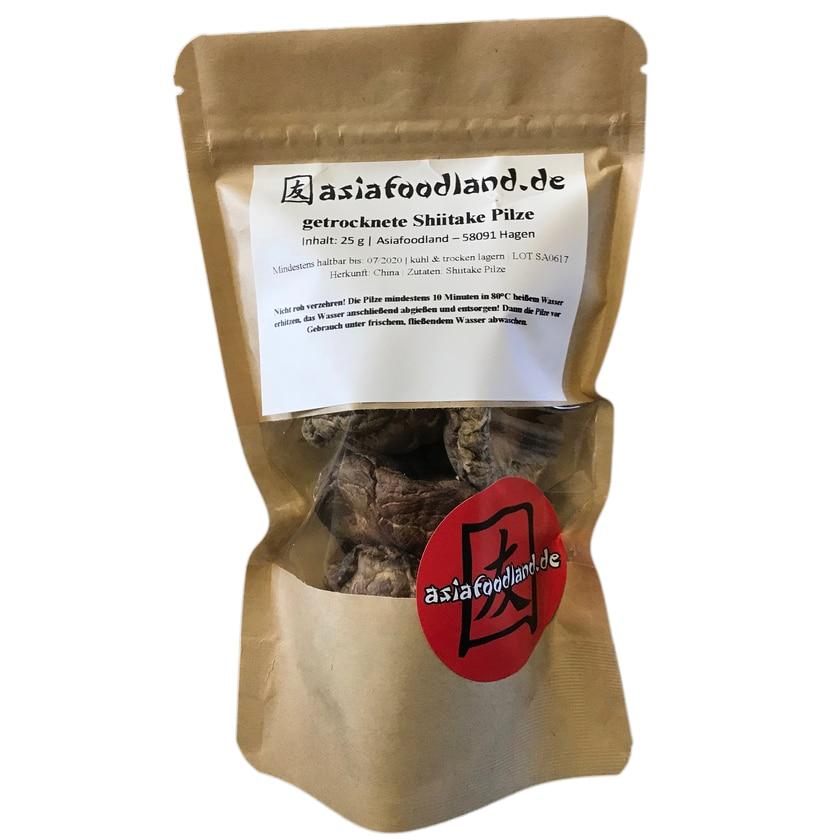 Asiafoodland getrocknete Shiitake Pilze 25g