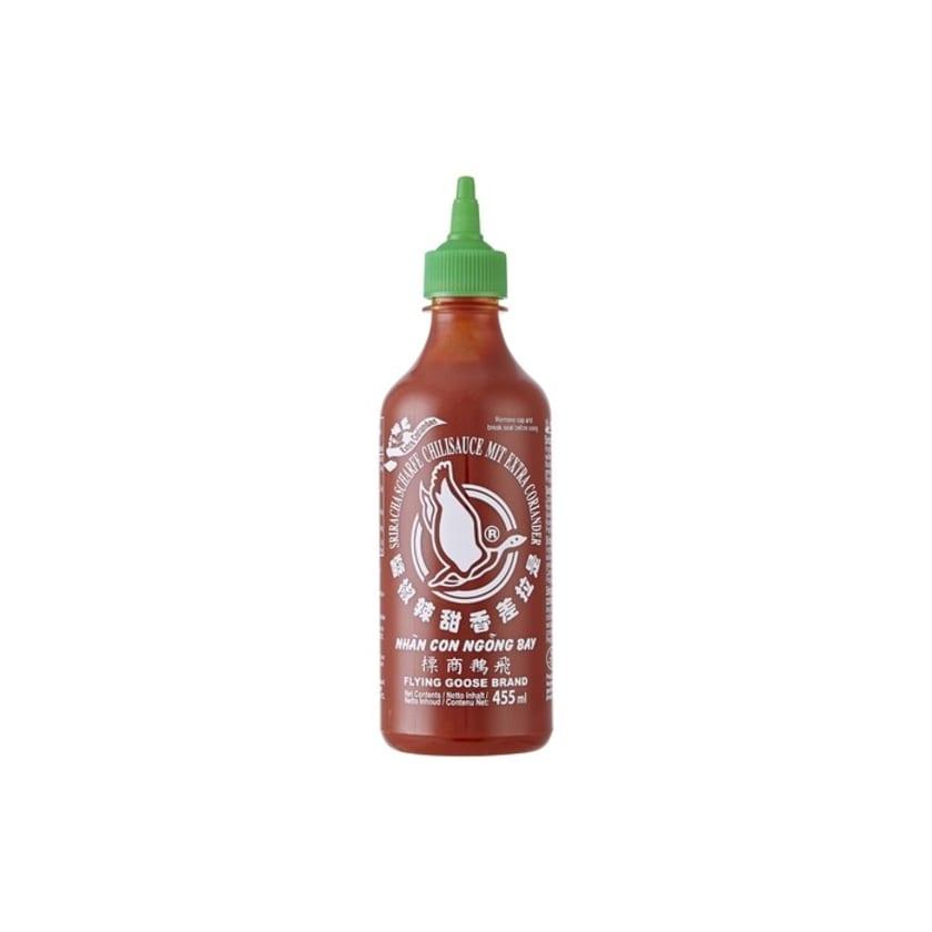 Flying Goose Sriracha Chilisauce mit Koriandergeschmack hell grüner Deckel 455ml