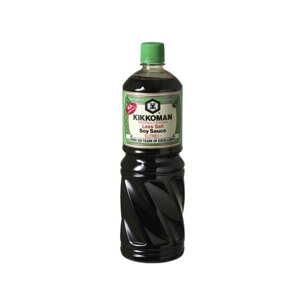 Kikkoman Japanische Sojasauce Salz reduziert 1 L