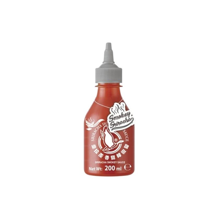 Flying Goose Sriracha Chilisauce Smokey mit Rauchgeschmack grauer Deckel 200ml