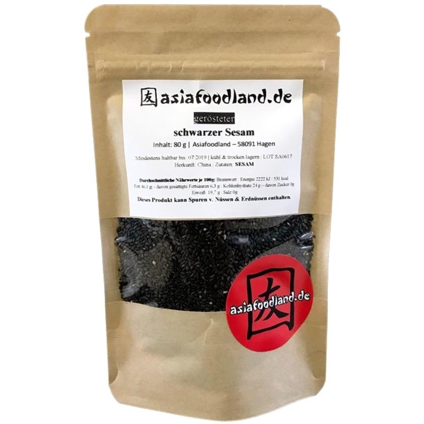 Asiafoodland gerösteter schwarzer Sesam 80g