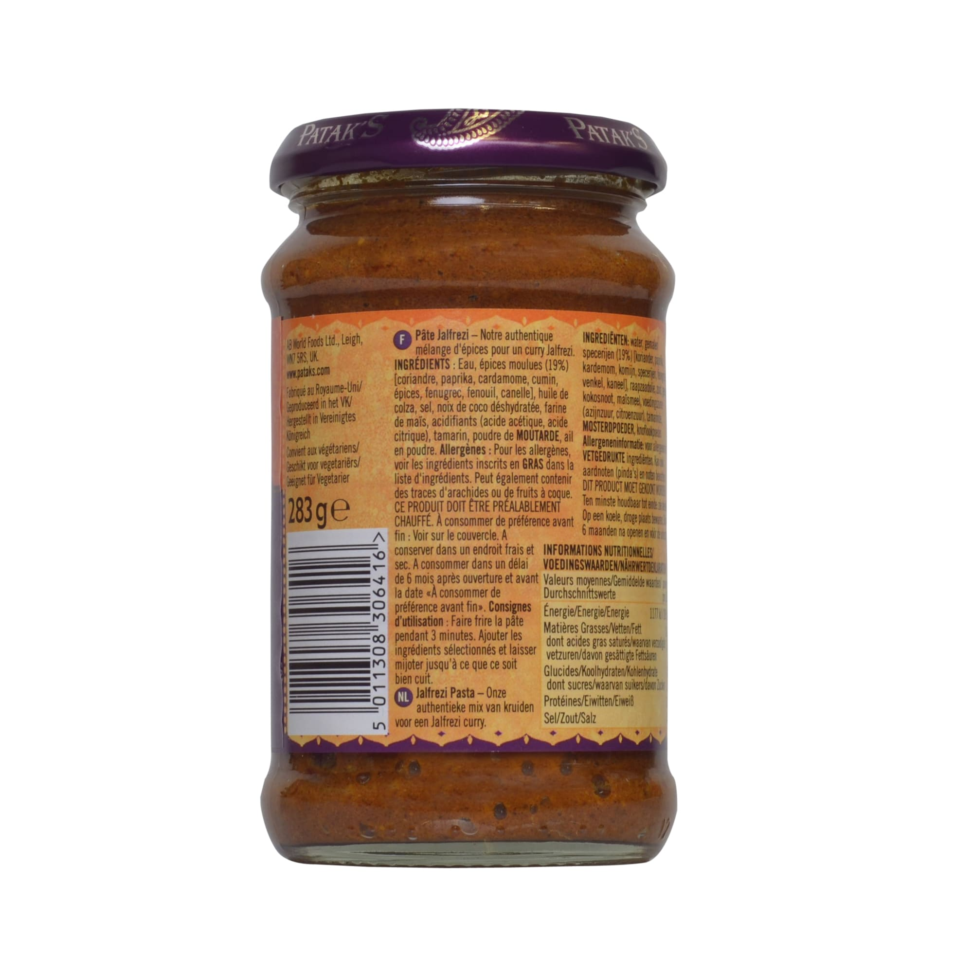 Patak's Jalfrezi Paste medium scharf 283g