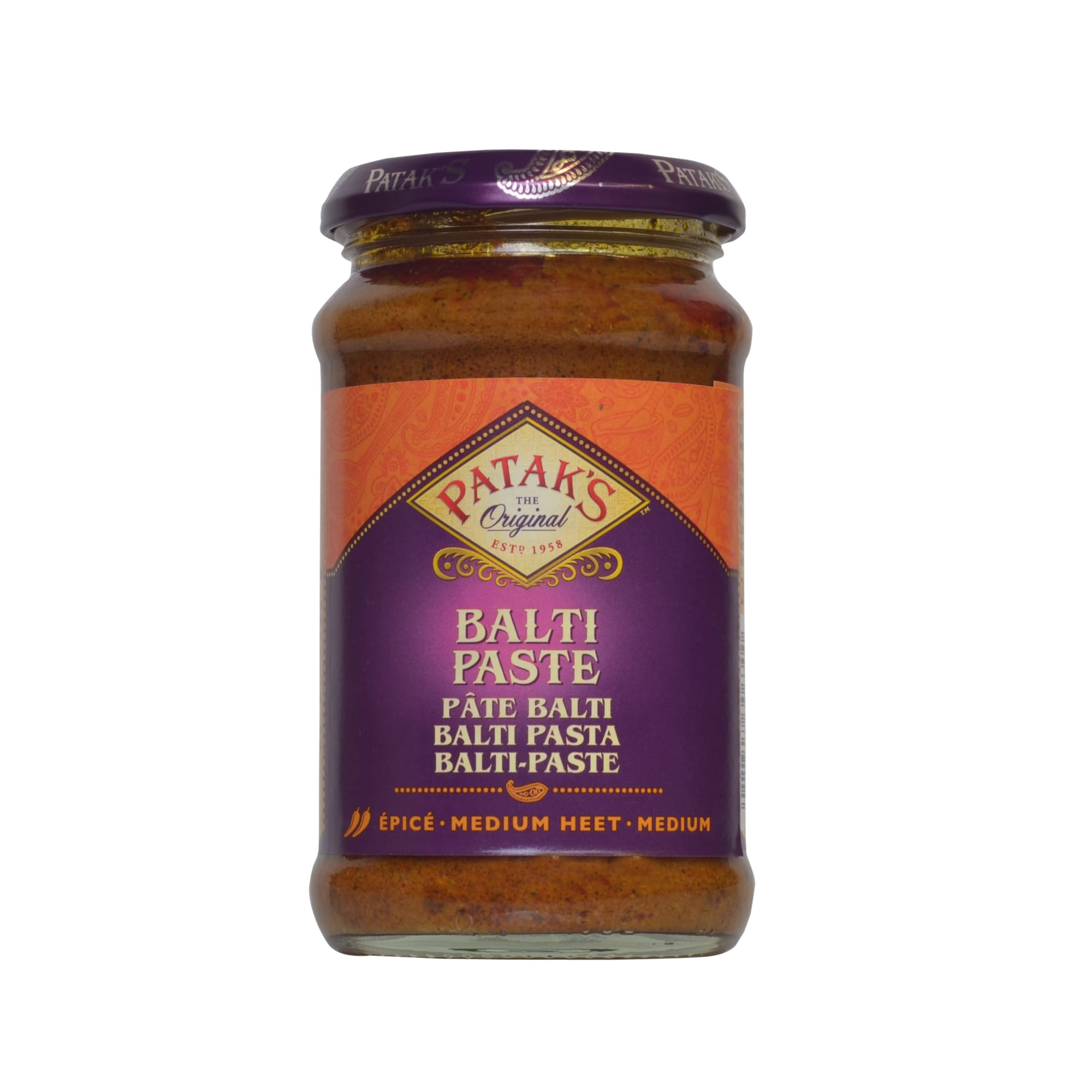 Patak's Balti Paste indische Curry Paste 283g