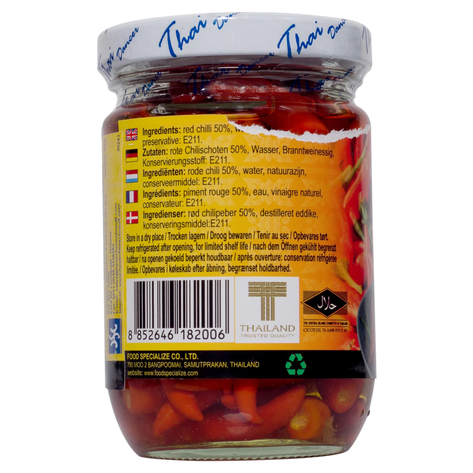 Thaidancer Pickled red chilli rote Thai Chili 100g