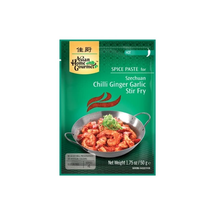 Asian Home Gourmet Würzpaste für Szechuan Chilli-Ingwer-Knoblauch-Pfanne 60g