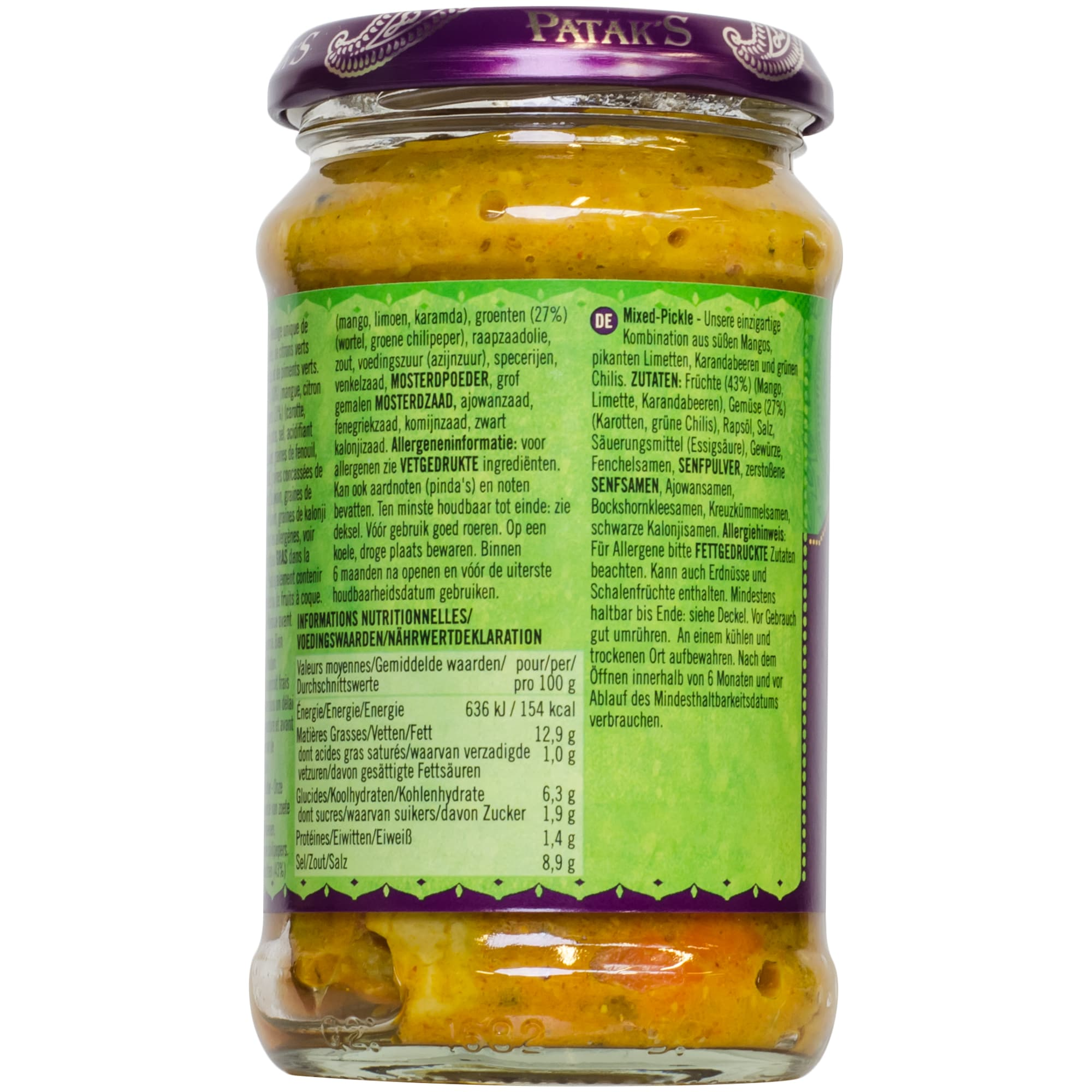 Patak's Mixed Pickle scharf 283g
