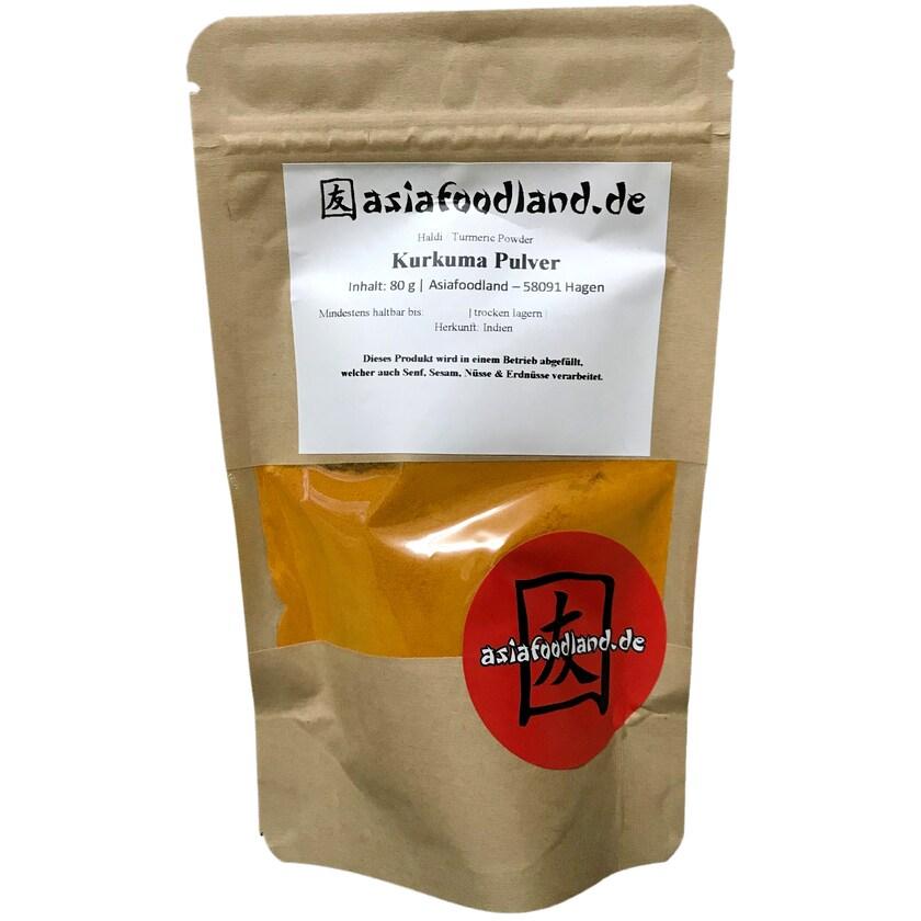 Asiafoodland Kurkuma Haldi Tumeric Gelbwurz Pulver 80g