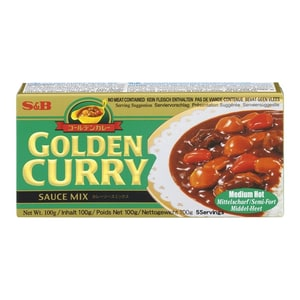S&B Japanische Curry Paste Golden Curry MITTELSCHARF 100 g