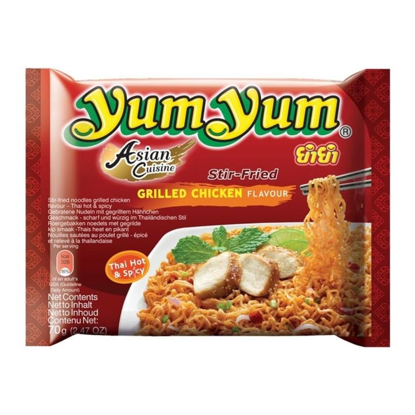 YumYum Instant Nudeln mit Grilled Chicken Geschmack 70g