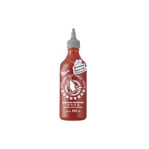 Flying Goose Sriracha Chilisauce Smokey mit Rauchgeschmack grauer Deckel 455ml