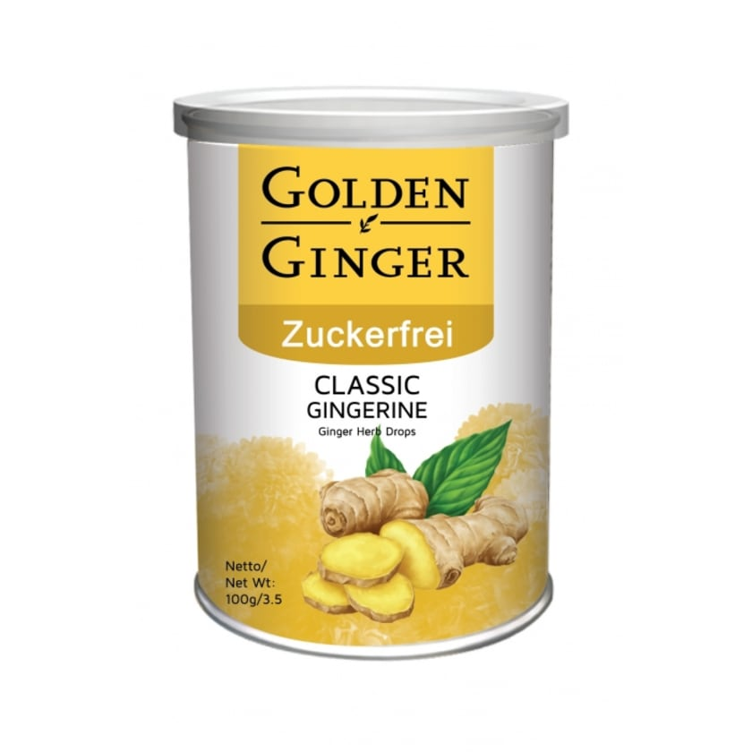 Sunny Ville Golden Ginger Zuckerfrei Ingwer Bonbon Classic 100 g