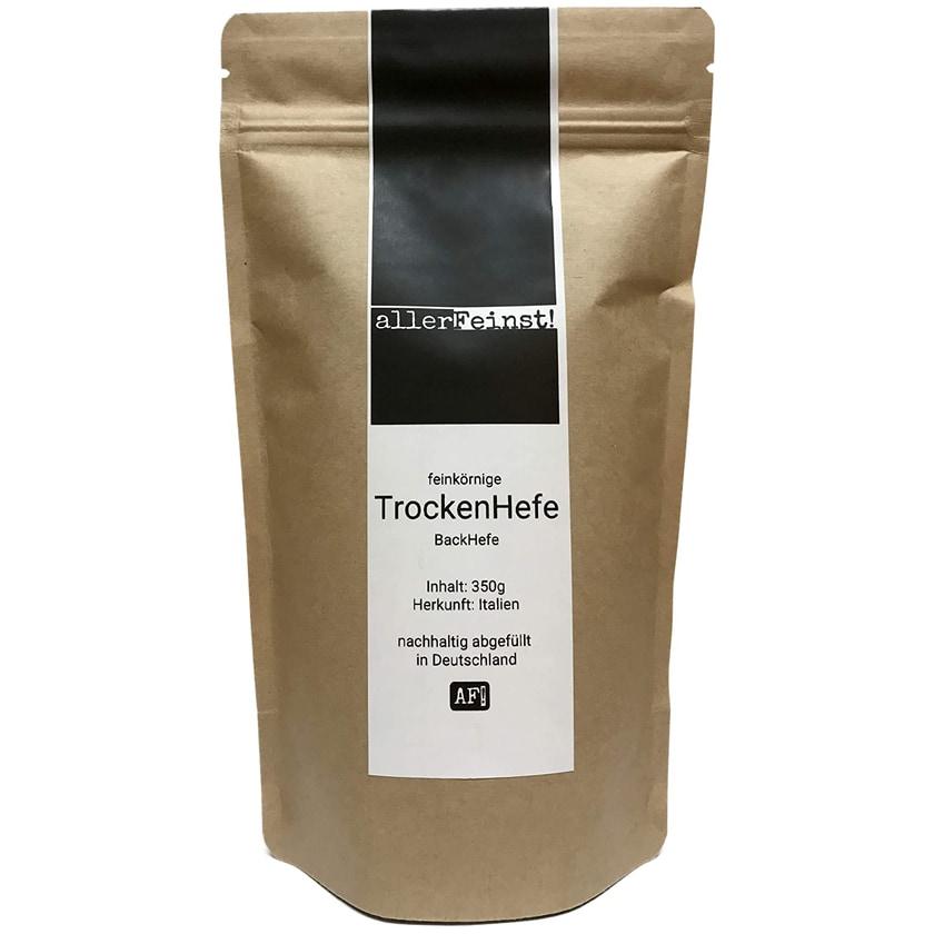 allerFeinst! feinkörnige Premium Hefe Trockenhefe Backhefe Germ Yeast für z.B. Ciabatta, Pizzateig, Kuchen, Gebäck, 350g