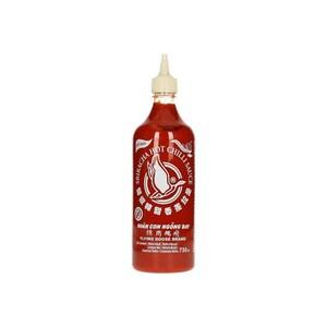 Flying Goose Sriracha Chilisauce mit Knoblauch ohne Glutamat sandweißer Deckel 730 ml
