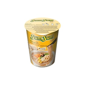 YumYum Nudelsuppen Cup Braune Reisnudeln mit Chicken Huhngeschmack 63 g