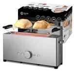 Balter Langschlitz Toaster TS-12 Edelstahl 2 Scheiben, 1000W