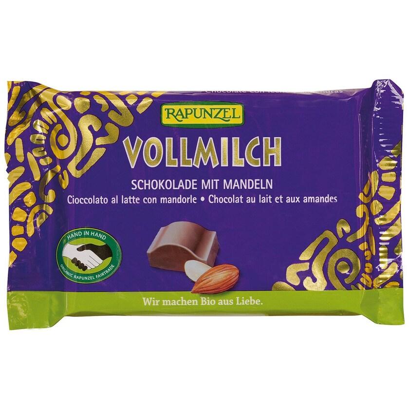 Rapunzel Bio Vollmilch Schokolade mitganzen Mandeln 100g