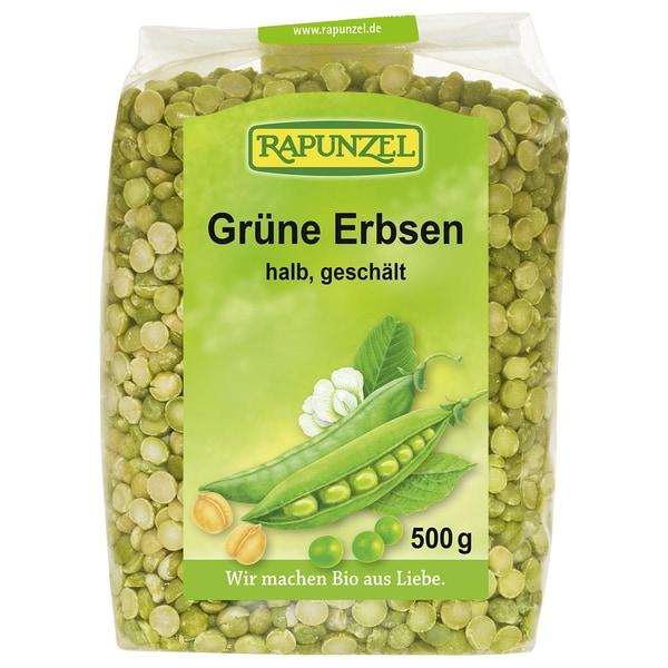 Rapunzel Bio Grüne Erbsen halbgeschält 500g