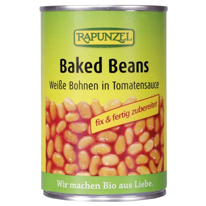 Rapunzel Bio Baked Beans in der Dose, weiße Bohnen in Tomatensauce 400g