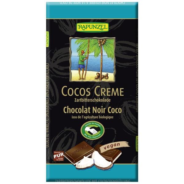 Rapunzel Bio Zartbitter-Schokolade Cocos-Creme 100g
