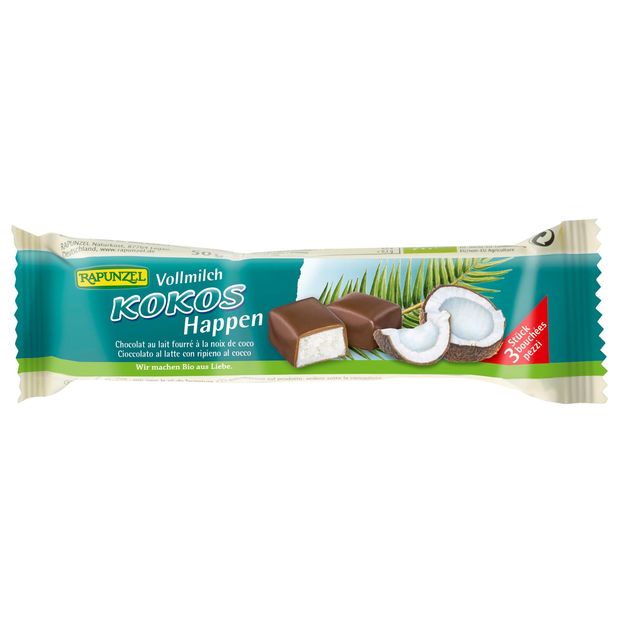 Rapunzel Bio Kokos-Happen Vollmilch 50 g