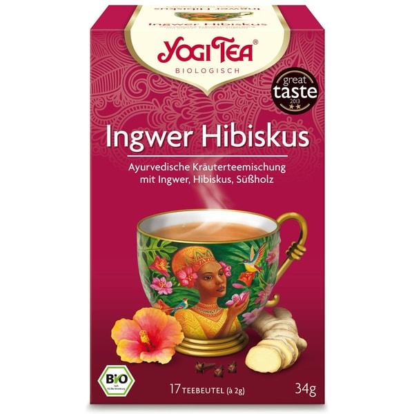 Yogi Tea Bio Ingwer Hibiskus Teemischung 34g