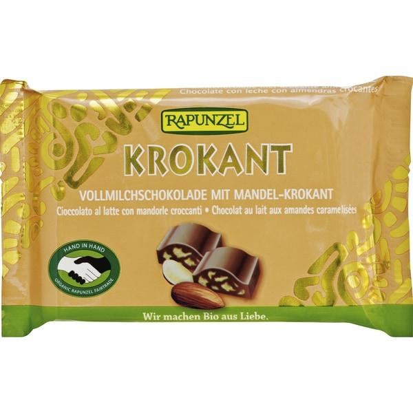 Rapunzel Bio Vollmilch Schokolade mit Mandelkrokant 100g
