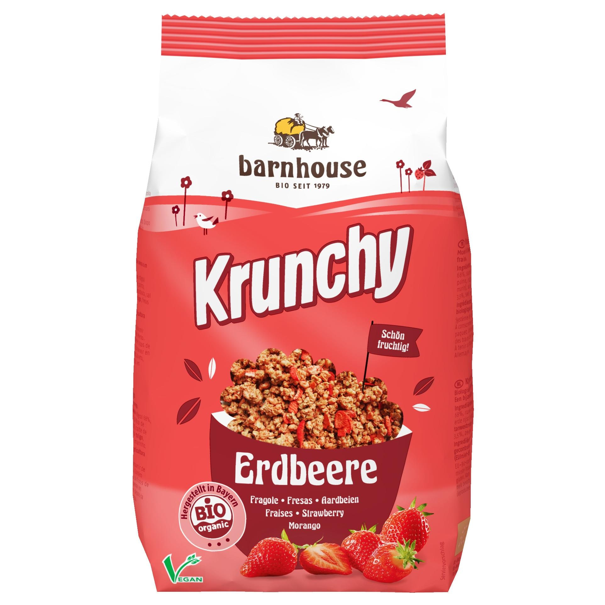 Barnhouse Bio Krunchy Erdbeere 375 g
