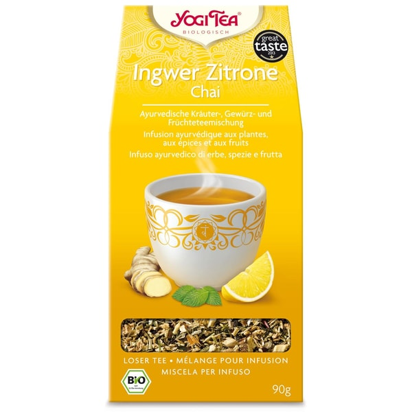 Yogi Tea Bio Ingwer Zitrone Chai lose Teemischung 90g