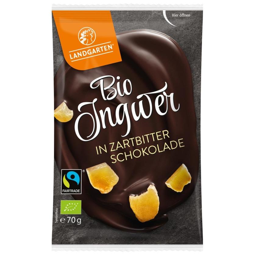 Landgarten Bio Ingwer in Zartbitter-Schokolade 70g