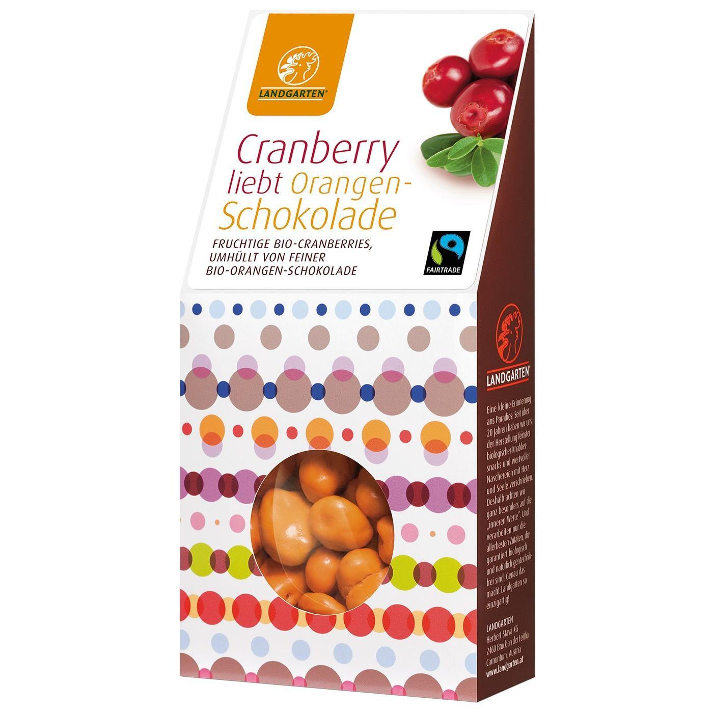 Landgarten Bio Cranberry liebt Orangen-Schokolade 90g