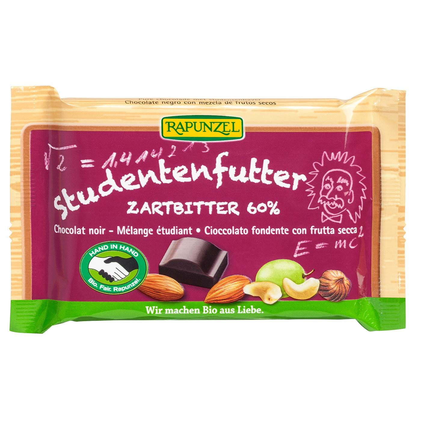 Rapunzel Bio Studentenfutter Zartbitterschokolade 100g