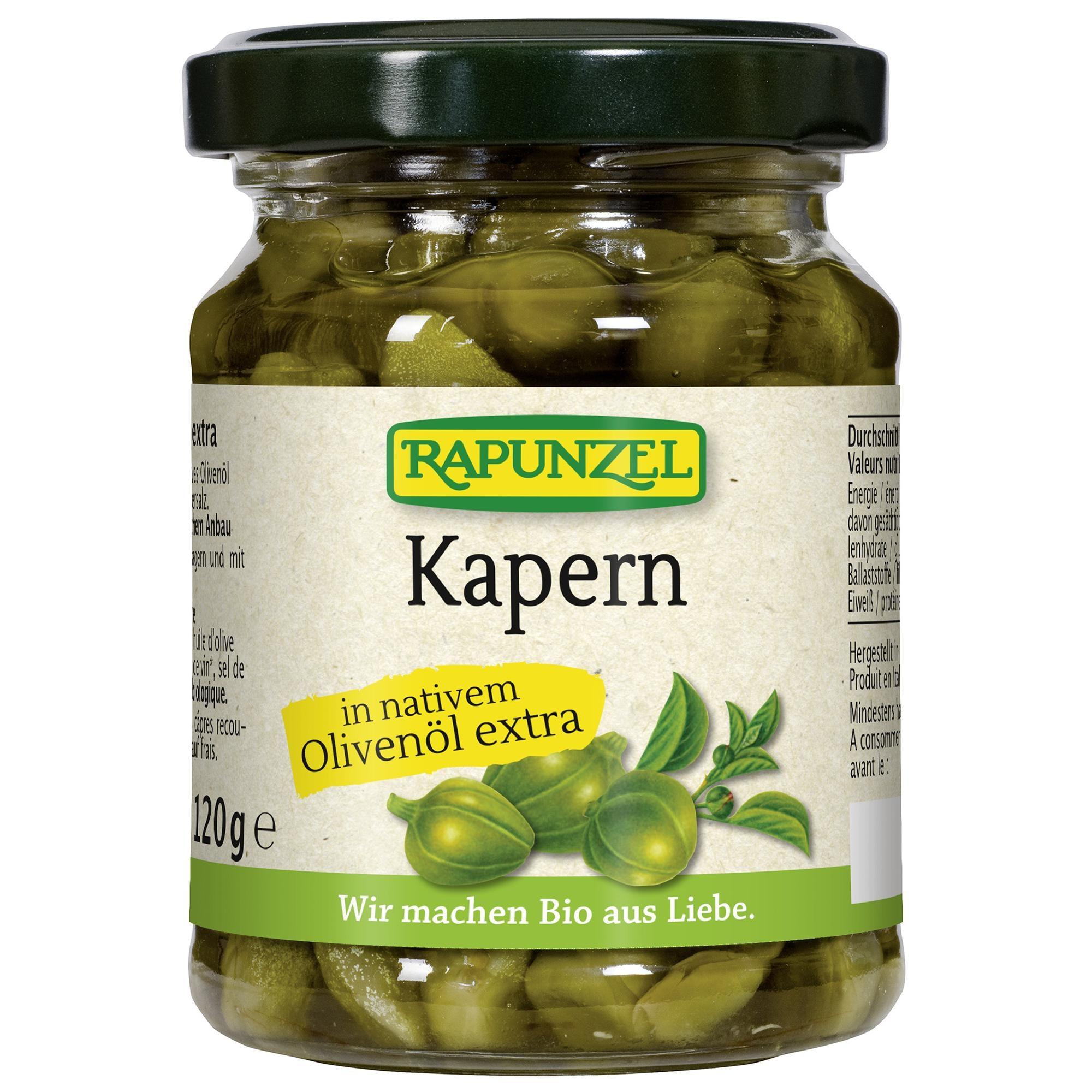Rapunzel Bio Kapern in Olivenöl 120g