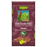 Rapunzel Bio Rum-Trauben-Nuss Vollmilch Schokolade 100g