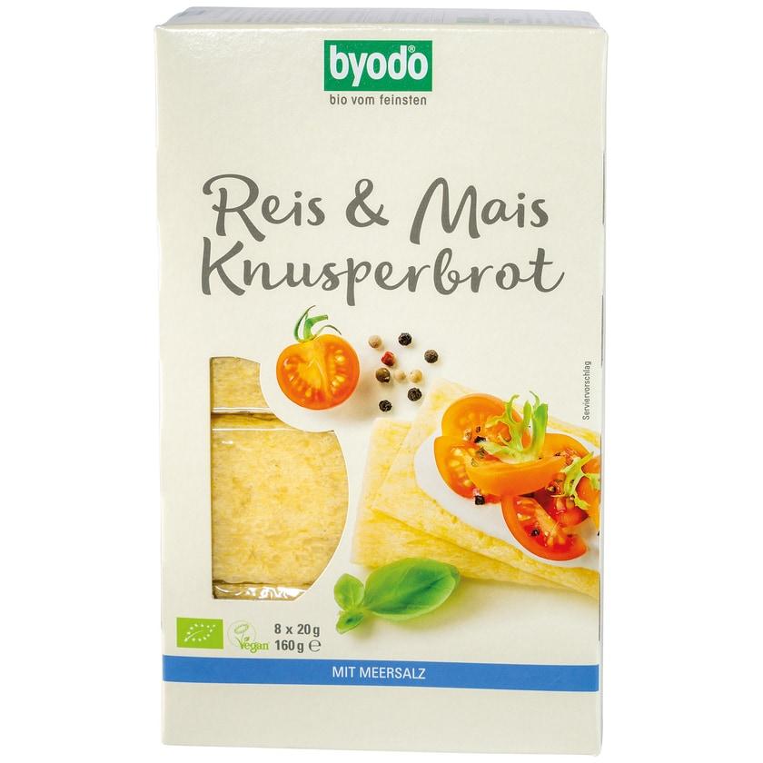Byodo Bio Reis und Mais Knusperbrot 160g